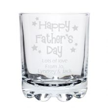 Happy Fathers Day Stars Stern Whisky Glass